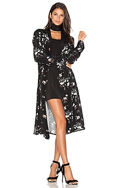 L'Academie x REVOLVE The Silk Robe in Floral