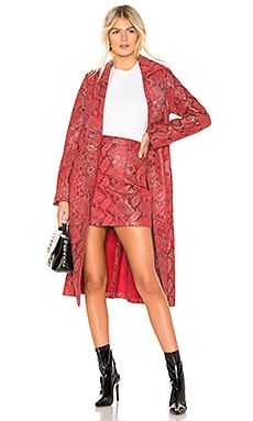 The Serpent Leather Trench Coat L'Academie $312
