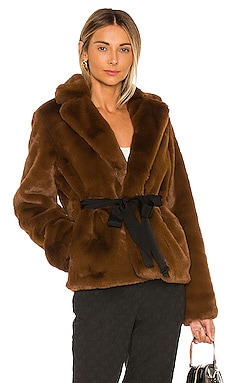 The Macee Faux Fur Coat L'Academie $99