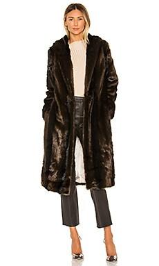 The Fleurette Faux Fur Coat L'Academie $191