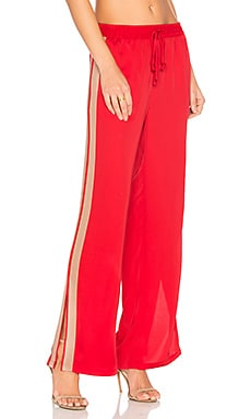 x REVOLVE The Track Pant in Red Clay & Camel