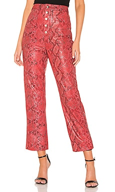 The Serpent Leather Pant L'Academie $448