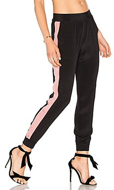 x REVOLVE The Silk Trouser in Black
