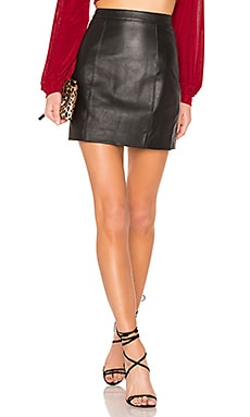 The Leather Mini Skirt in Schwarz