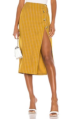 The Lisa Midi Skirt L'Academie $148 BEST SELLER