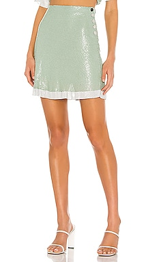 The Olivie Glo Mesh Mini Skirt L'Academie $77