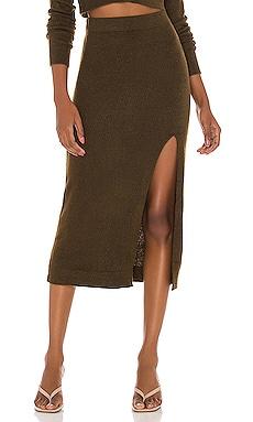 Drew Midi Skirt L'Academie $148 NEW