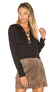 The Safari Blouse in Schwarz