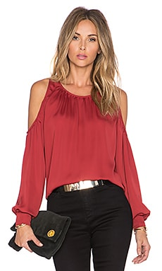 The Shoulder Blouse in Bordeaux