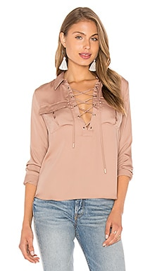 L'Academie The Safari Blouse in Camel