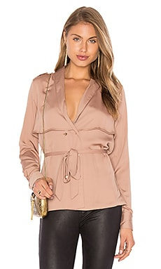 L'Academie The Trench Blouse in Camel