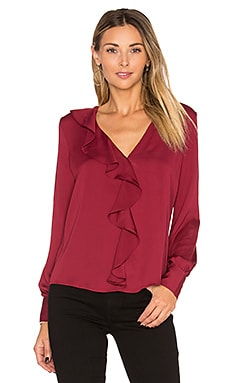 The Ruffle Blouse in Cabernet