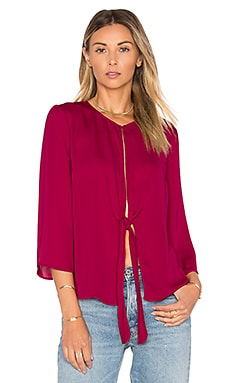 the Low Knot Blouse in Raspberry