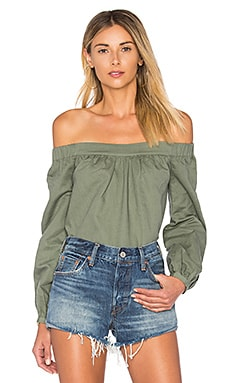 The Romantic Linen Top in Fern