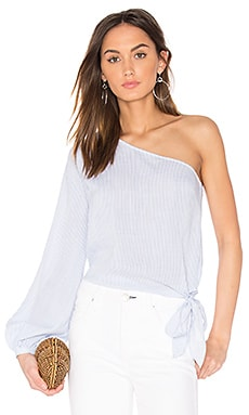 x REVOLVE The Romantic Sleeve One Shoulder Blouse