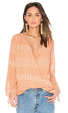 The Long Sleeve Wrap Blouse in Kaleidoscope