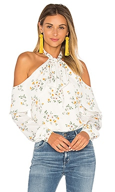 x REVOLVE The Tie Neck Off Shoulder Blouse
