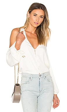The V-Neck Shoulder Blouse in Ivory