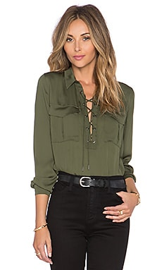 L'Academie The Safari Blouse in Army