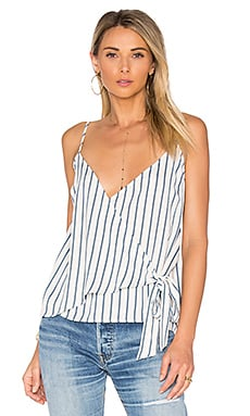 x REVOLVE The Wrap Cami in Blue Surrey Stripe