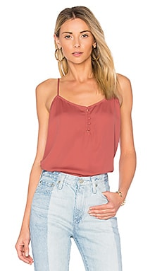 x REVOLVE The Button Cami in English Rose