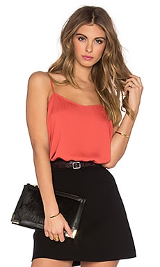 L'Academie The Cami Blouse in Red Orange