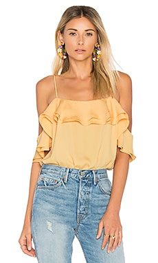 The Off Shoulder Bodysuit in Lemon