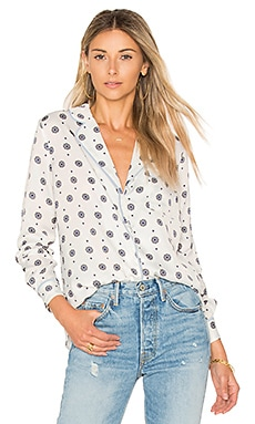 x REVOLVE The Lounge Shirt in Blue Medallion