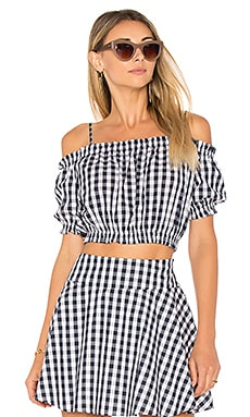 X REVOLVE The Ruffle Crop Top