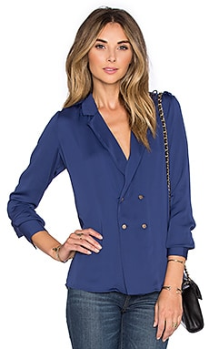 L'Academie x REVOLVE The Military Blouse in Navy