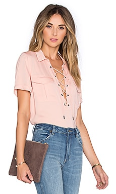 The Safari Blouse in Blush
