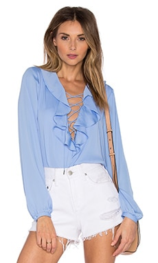 The Ruffle Boho Blouse in Marina