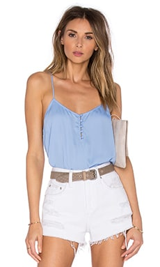 The Button Cami Blouse in Marina
