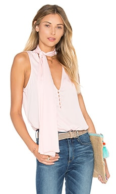 L'Academie The 70's Tank Blouse in Blush