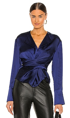 Cross Wrap Blouse L'Academie $170