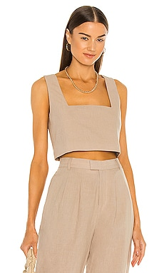 The Rochelle Crop Top L'Academie $128 NEW