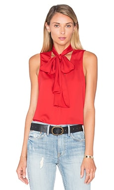 The 70's Tank Blouse in Red Clay