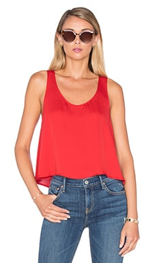 L'Academie The Swing Tank Blouse in Red Clay