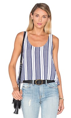 The Swing Tank Blouse en Rayures Marines