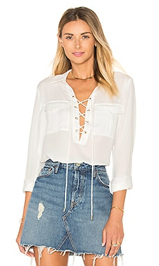 L'Academie The Safari Blouse in Ivory