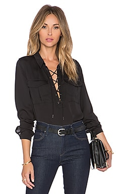 L'Academie The Safari Blouse in Black