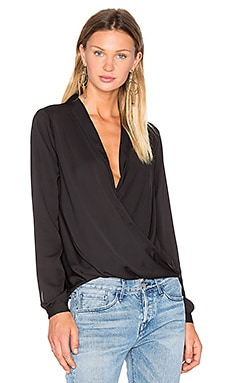 The Surplice Blouse in Black