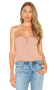 L'Academie The Button Cami Blouse in Camel