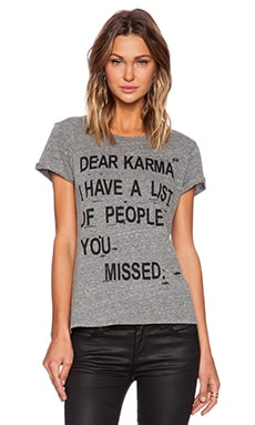 Local Celebrity Dear Karma Graphic Tee in Grey