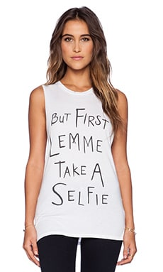 Local Celebrity Selfie Muscle Tank in White