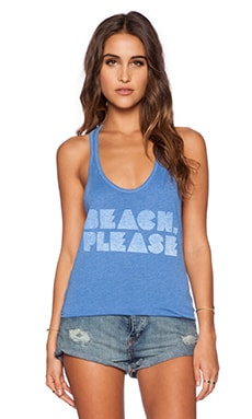 Local Celebrity Beach Please Nikki Tank in Ocean