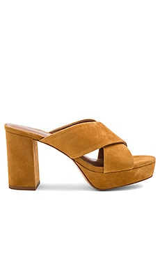 Cross Front Mule en Jaune Moutarde