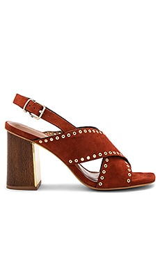 Cross Front Heel in Terracota
