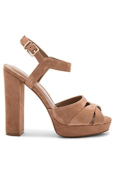 Peeptoe Heel en Light Brown