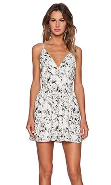 Deep V Floral Tank Dress in Graphic Floral